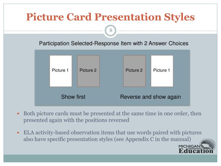 Picture Card Presentation Styles