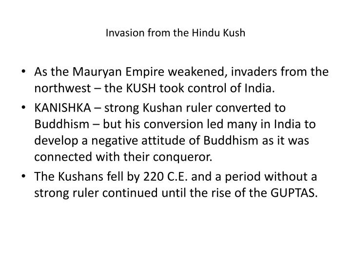 Invasion from the Hindu Kush
