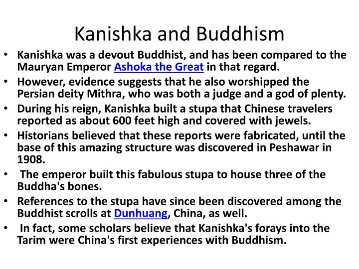 Kanishka and Buddhism