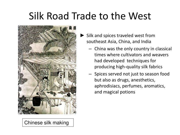 Silk Road Trade to the West