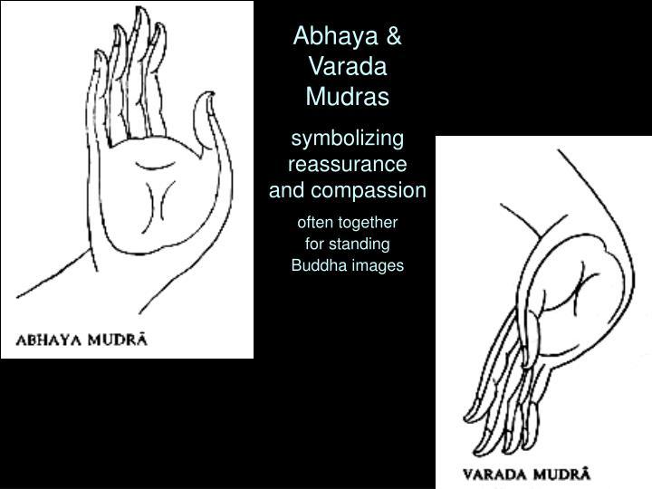 Abhaya & Varada Mudras