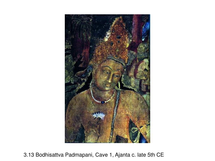3.13 Bodhisattva Padmapani, Cave 1, Ajanta c. late 5th CE