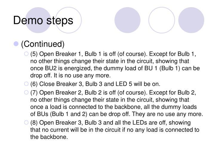 Demo steps