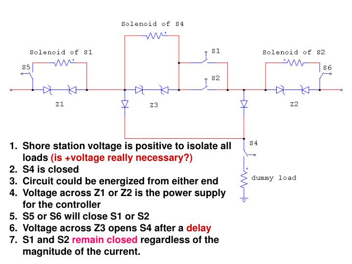 Shore station voltage is positive to isolate all loads