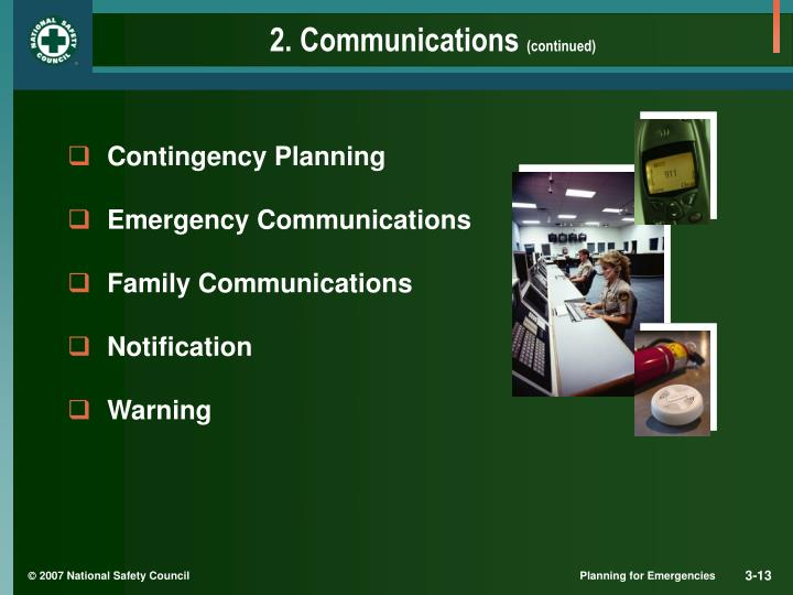 2. Communications