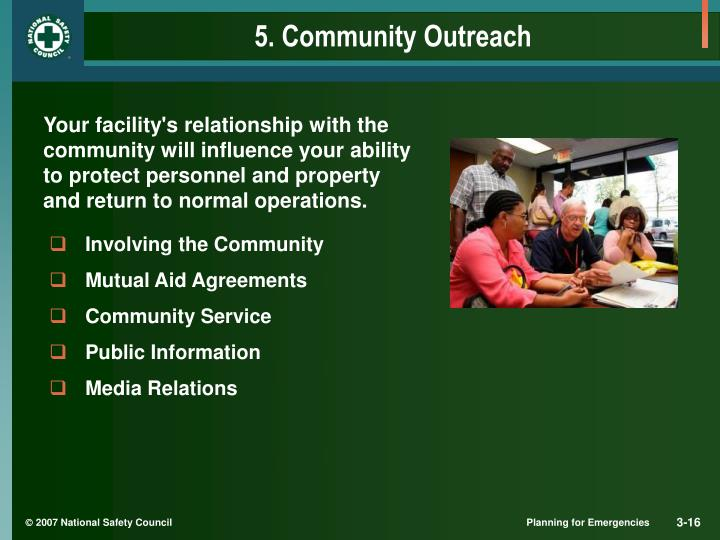 5. Community Outreach