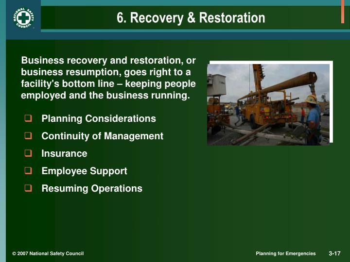 6. Recovery & Restoration