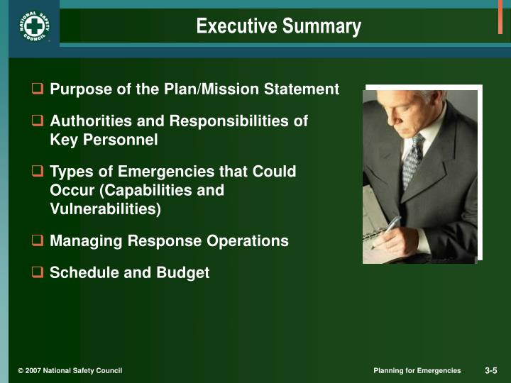 Purpose of the Plan/Mission Statement
