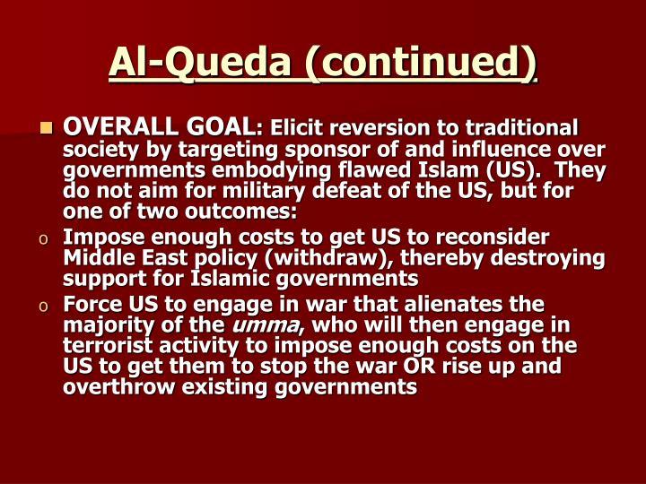 Al-Queda (continued)