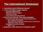 the international dimension
