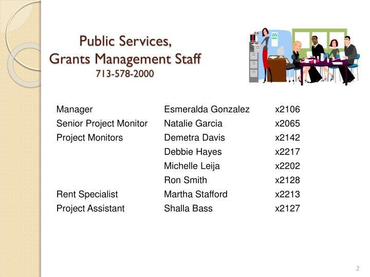 Public Services,
