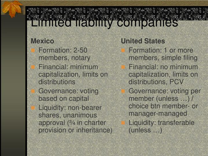 Limited liability companies2