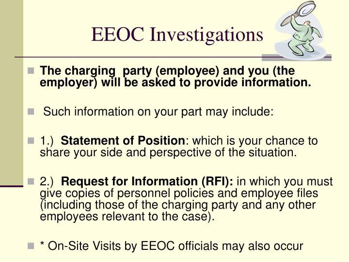 EEOC Investigations