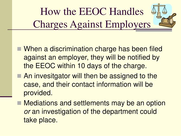 How the EEOC Handles