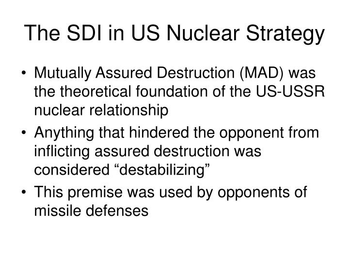 The SDI in US Nuclear Strategy