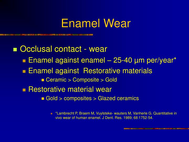 Enamel Wear