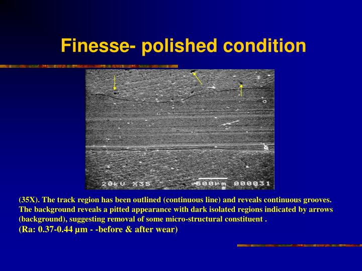Finesse- polished condition