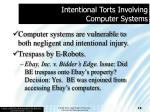 intentional torts involving computer systems