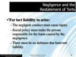 negligence and the restatement of torts