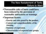 the new restatement of torts failure to warn