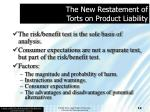 the new restatement of torts on product liability