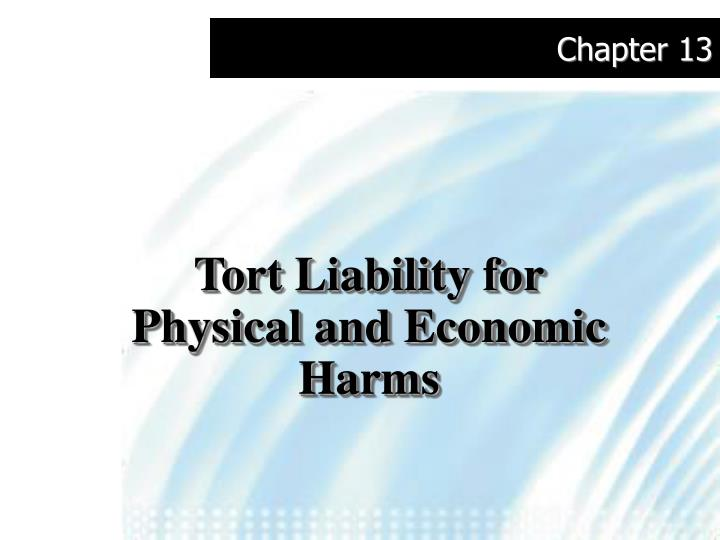 Tort liability for physical and economic harms