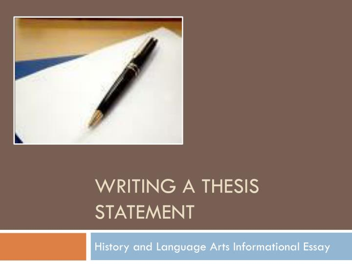 determining the thesis of a speech
