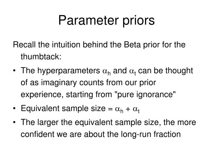 Parameter priors