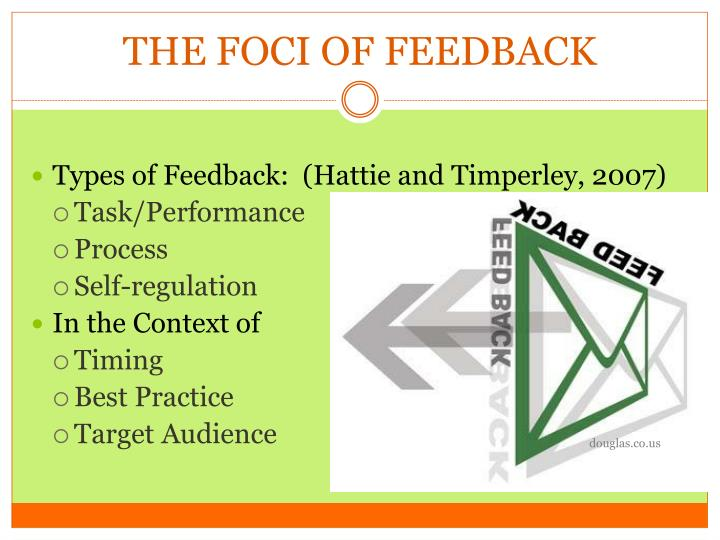 THE FOCI OF FEEDBACK