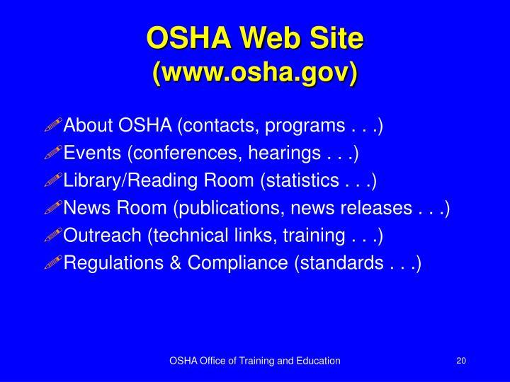 OSHA Web Site