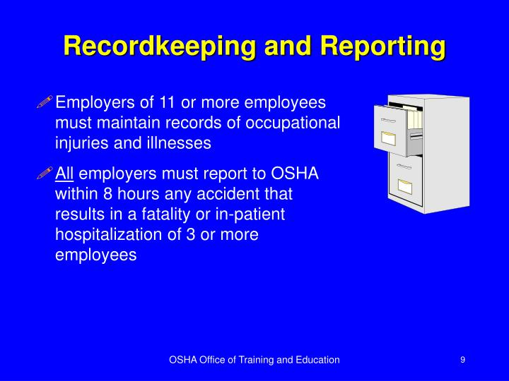 Recordkeeping and Reporting