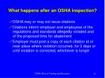 what happens after an osha inspection