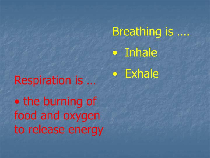 Breathing is ….