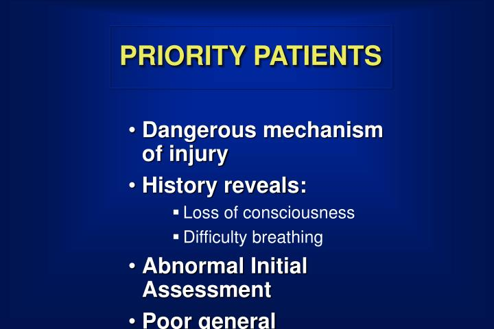 PRIORITY PATIENTS