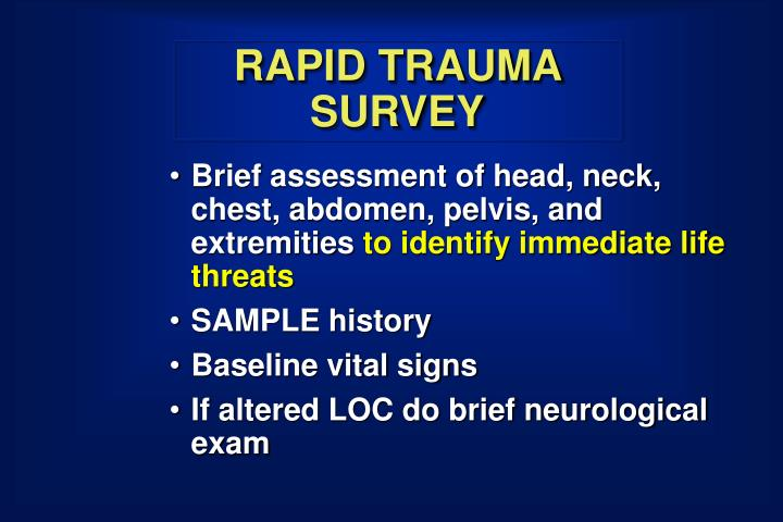RAPID TRAUMA SURVEY