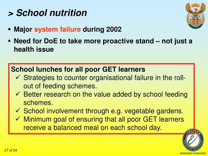 > School nutrition