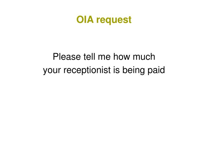 OIA request