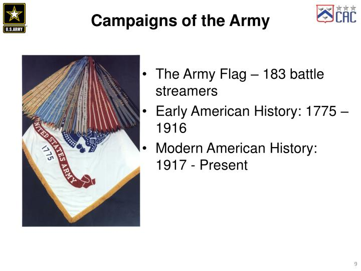 Campaigns of the Army