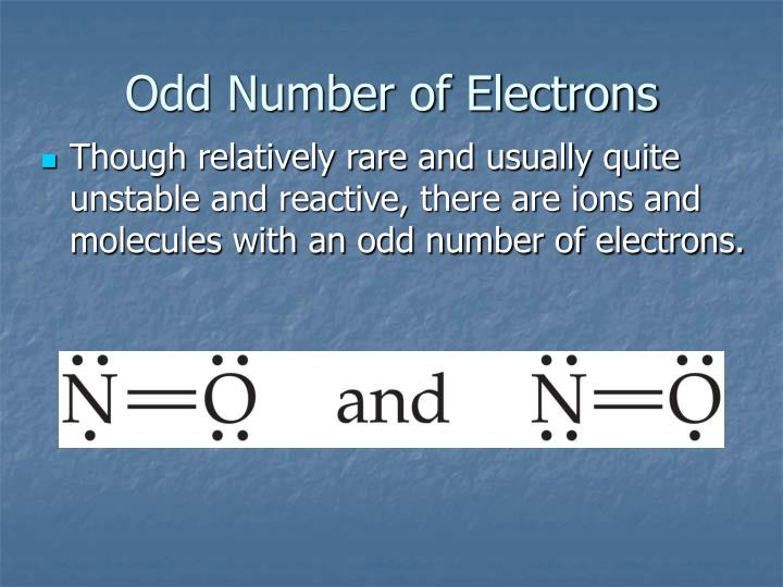Odd Number of Electrons