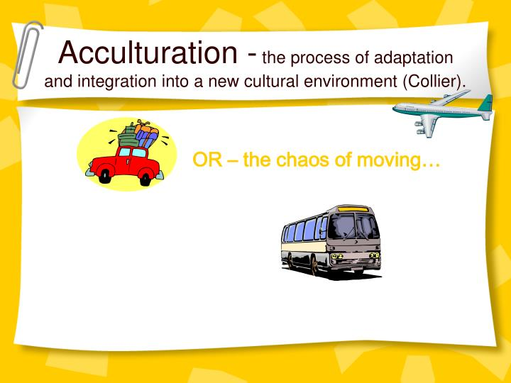 Acculturation -