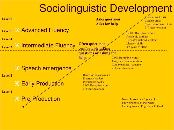 Sociolinguistic Development