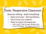 tools responsive classroom