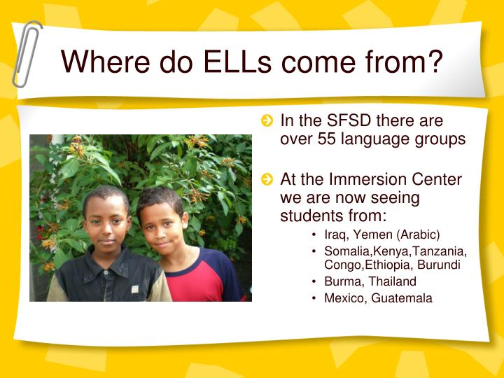 Where do ELLs come from?
