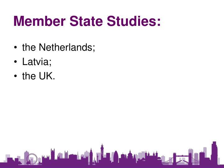 Member State Studies: