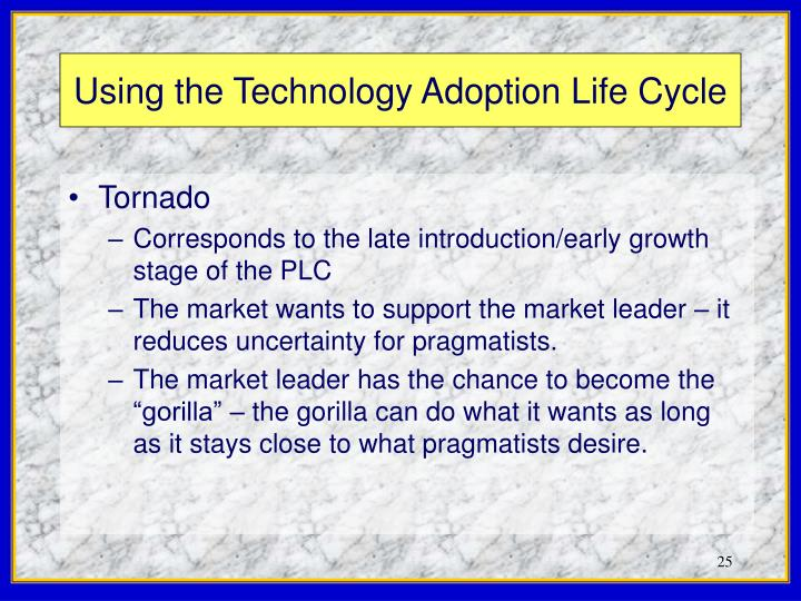 Using the Technology Adoption Life Cycle
