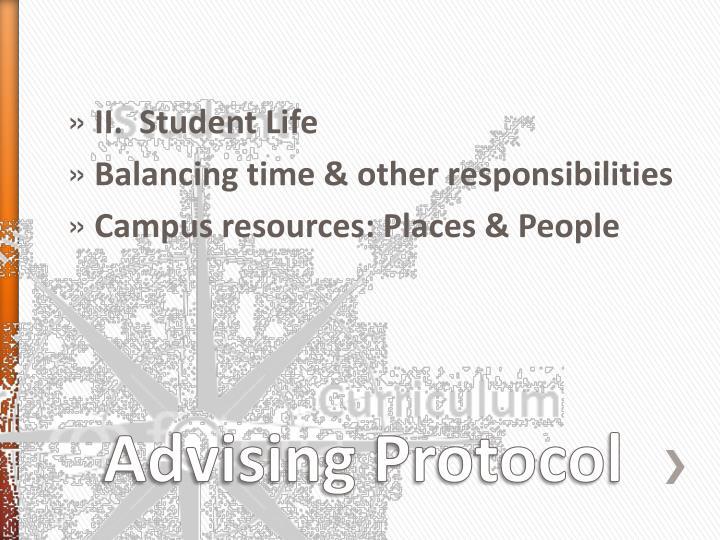 II.  Student Life