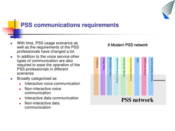 With time, PSS usage scenarios as well as the requirements of the PSS professionals have changed a lot.