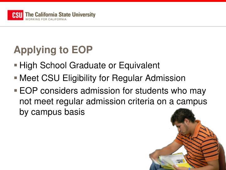 Applying to EOP