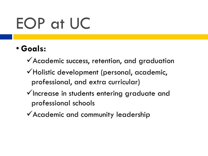 EOP at UC
