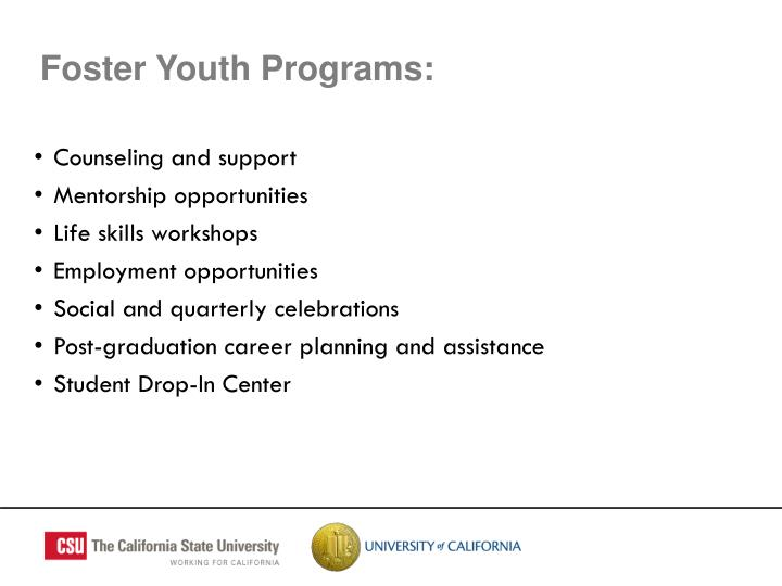 Foster Youth Programs: